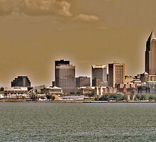 Cleveland Skyline by Jeff  Burns