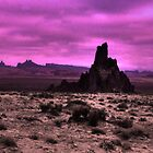 Sundown at Shiprock by Wayne King