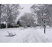 Village Green, Holiday Season, Bar Harbor, Maine Photographic Print