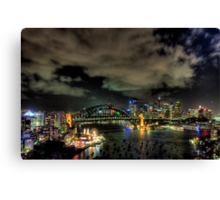 City Lights - Moods Of A City - The HDR Experience Canvas Print