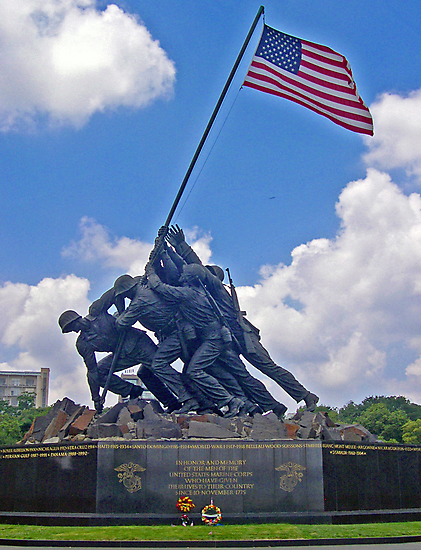 *U.S.M.C. War Memorial* by Van Coleman