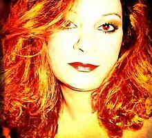 Firey Self Portrait by Julie Everhart