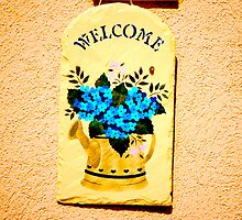 Welcome Garden Sign by Jonathan  Green