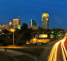 Winston Salem at night !! by clmustin