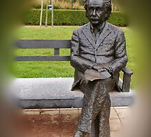 Albert Einstein - De Haan - Belgium by Gilberte
