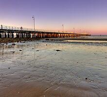 Sandgate pier at dusk by Richard Majlinder