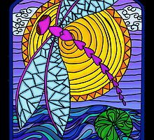 Dragonfly Sunset by Rhonda Blais