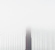 Golden Gate Bridge - White by Erwin G. Kotzab