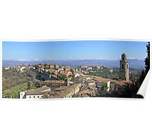 Italian panorama: Perugia's Monteluce district, the Tiber valley and the Apennines. Poster