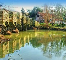 Stopham Bridge and the White Hart by Colin J Williams Photography