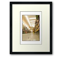 Grocery Store Shopper Framed Print