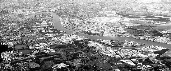 Brisbane from the sky by Paige
