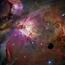 Orion Nebula - A Fantasy Creation using a Hubble Telescope Image courtesy of N.A.S.A by Vanessa Barklay