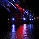 The Peace Bridge, Canada to USA by JKKimball