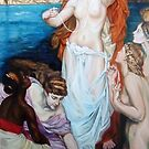 The Pearls of Aphrodite After Herbert Draper by Hidemi Tada