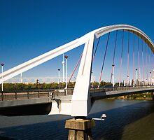 Barqueta Bridge, Seville, Spain by jmhdezhdez