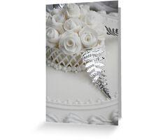 Wedding Cake detail Greeting Card