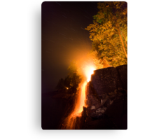 Waterfalls on Fire Canvas Print