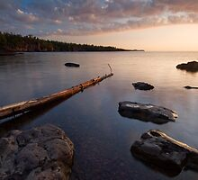 Gooseberry Falls State Park, Sunrise. by Michael Treloar