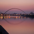 Infinity Bridge, from the Tees Barrage by dougie1page2