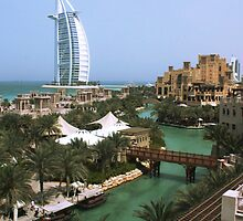 The Burj Al Arab from the Madinat Jumeirah by C0balt
