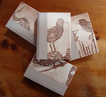 Set of 4 hand bound journals by jobanana