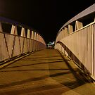 bridge (dusk: receding curves, zigzag shadows) by armadillozenith