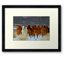 HORSE DRIVE ~CHERRY CREEK NEVADA  Framed Print