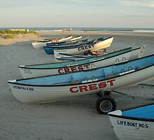 Lifeguard boats in Wildwood Crest by Michael Bender