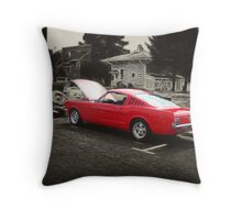 1965 Mustang Fastback Throw Pillow