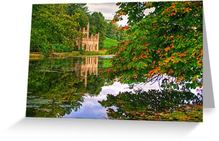 Painshill Park - HDR - Autumn Reflections by Colin J Williams Photography