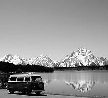 VW Bus at Grand Teton by GrnBusAdventure