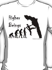 Higher Beings - Black Text T-Shirt