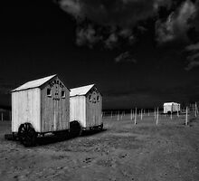 Cabins in the shadow of fall by PhotomasWorld