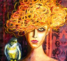 "Lady Hawk - STOLEN ART by Belinda ""BillyLee"" NYE (Printmaker)"