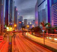 Wanchai Gloucester Road - Light Trails by HKart