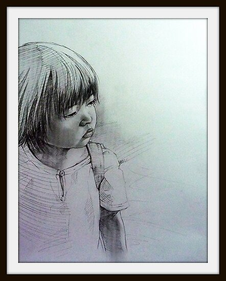 Pencil Portrait by jhjjjoo