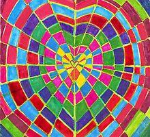 mosaic dart board by suzanadams