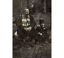 Boy and Grandad Photographic Print