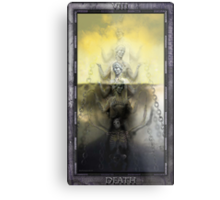 THE TAROT DEATH CARD Metal Print