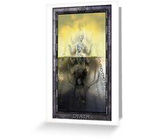 THE TAROT DEATH CARD Greeting Card