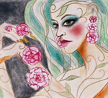 flower goddess by Petra Pinn