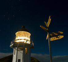 Cape Reinga lighthouse at night 7 by Paul Mercer