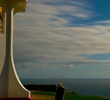 Cape Reinga lighthouse at night 9 by Paul Mercer