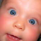 Smiley Baby Blue Eyes by Lyndy