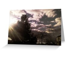A Ray of Light Greeting Card