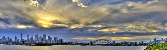 Sydney Panorama, from Bradleys Head by Bob Culshaw