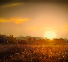 sundown near coker butte  rogue valley by daledaniel