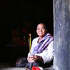 Nun in the temple by Paul McSherry