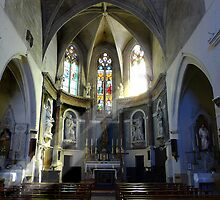 A church in Lespignon.Southern France by bronzebilly